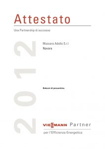 Attestato PEE 2012