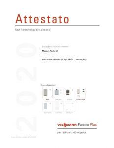 Attestato PEE 2020